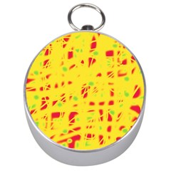 Yellow and red Silver Compasses