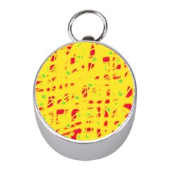 Yellow and red Mini Silver Compasses