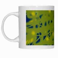 Green and blue White Mugs