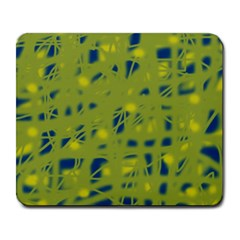 Green and blue Large Mousepads