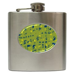 Green and blue Hip Flask (6 oz)