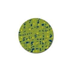 Green and blue Golf Ball Marker