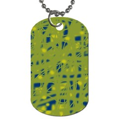 Green and blue Dog Tag (Two Sides)