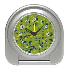 Green and blue Travel Alarm Clocks