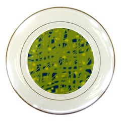 Green and blue Porcelain Plates