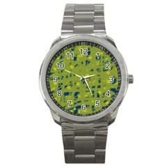 Green and blue Sport Metal Watch
