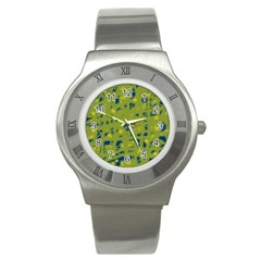 Green and blue Stainless Steel Watch