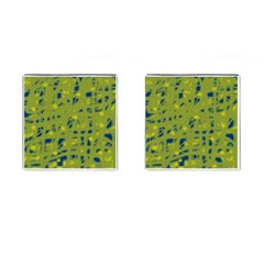 Green and blue Cufflinks (Square)