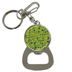Green and blue Bottle Opener Key Chains