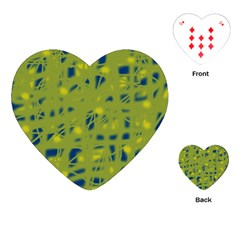 Green and blue Playing Cards (Heart)