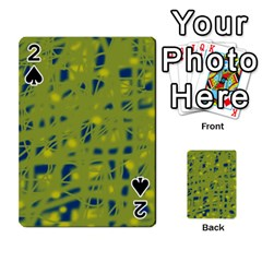 Green and blue Playing Cards 54 Designs
