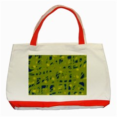 Green and blue Classic Tote Bag (Red)