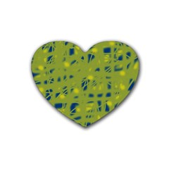 Green and blue Heart Coaster (4 pack)