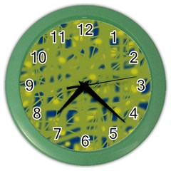 Green and blue Color Wall Clocks