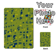 Green and blue Multi-purpose Cards (Rectangle)