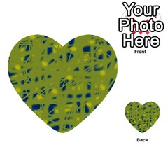 Green and blue Multi-purpose Cards (Heart)