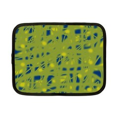 Green and blue Netbook Case (Small)