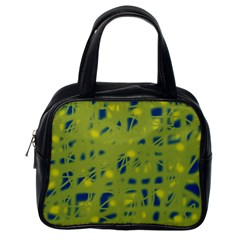 Green and blue Classic Handbags (One Side)