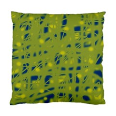 Green and blue Standard Cushion Case (Two Sides)