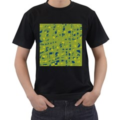 Green and blue Men s T-Shirt (Black)