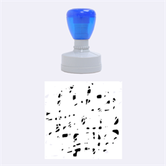 Green and blue Rubber Round Stamps (Medium)