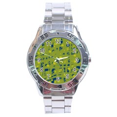 Green and blue Stainless Steel Analogue Watch