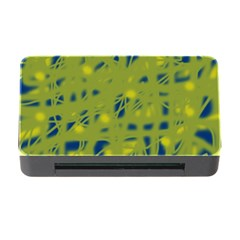 Green and blue Memory Card Reader with CF