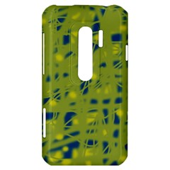 Green and blue HTC Evo 3D Hardshell Case
