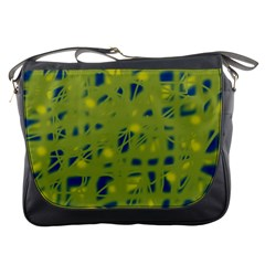 Green and blue Messenger Bags