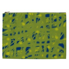 Green and blue Cosmetic Bag (XXL)