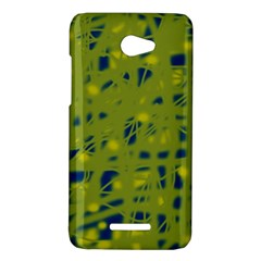 Green and blue HTC Butterfly X920E Hardshell Case