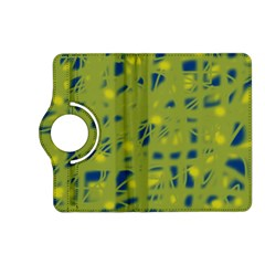 Green and blue Kindle Fire HD (2013) Flip 360 Case