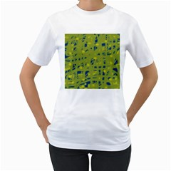 Green and blue Women s T-Shirt (White)