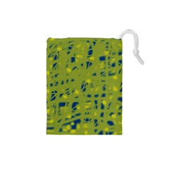 Green and blue Drawstring Pouches (Small)