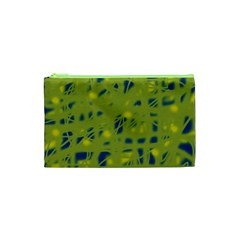 Green and blue Cosmetic Bag (XS)