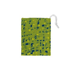Green and blue Drawstring Pouches (XS)