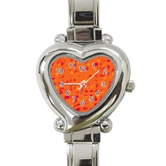 Orange Heart Italian Charm Watch