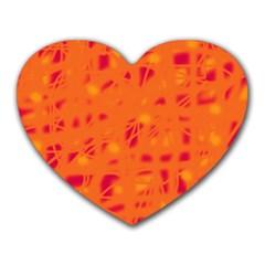 Orange Heart Mousepads