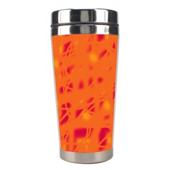 Orange Stainless Steel Travel Tumblers
