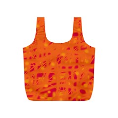 Orange Full Print Recycle Bags (S)