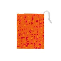 Orange Drawstring Pouches (Small)
