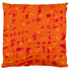 Orange Standard Flano Cushion Case (One Side)