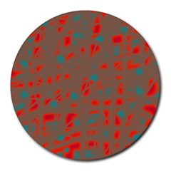 Red and brown Round Mousepads
