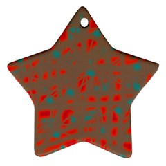 Red and brown Ornament (Star)