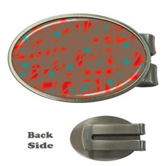 Red and brown Money Clips (Oval)