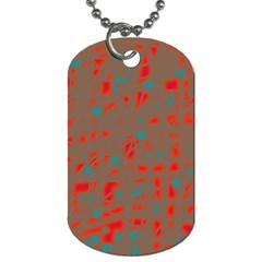 Red and brown Dog Tag (One Side)