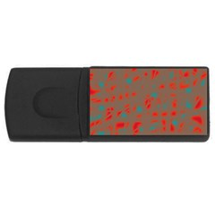 Red and brown USB Flash Drive Rectangular (2 GB)