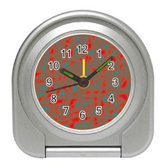 Red and brown Travel Alarm Clocks