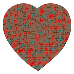 Red and brown Jigsaw Puzzle (Heart)