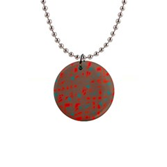 Red and brown Button Necklaces